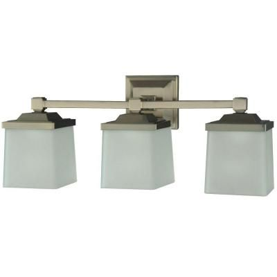 Martha Stewart Living Skylands Collection 3Light Brushed Nickel Alluring Home Depot Bathroom Light Fixtures Decorating Design