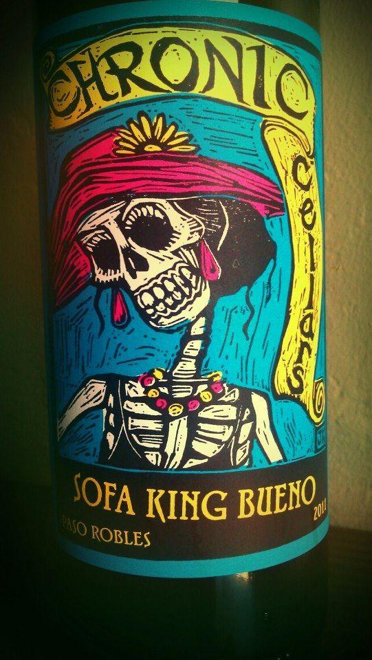 Bottle Label Design Sofa King Bueno Chronic Cellars Design