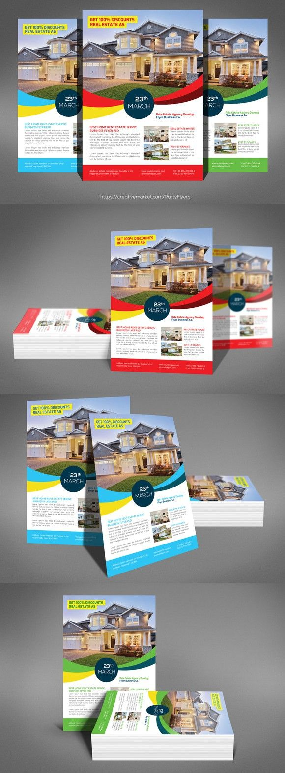 Corporate Real Estate Flyer Template. Flyer Templates. $6.00 | Flyer ...