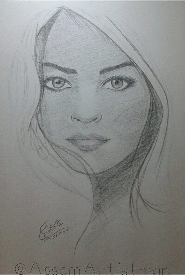 رسم وجه امرأة بالرصاص عاصم عصام Art Drawings Sketches Art Drawings Pencil Art Drawings
