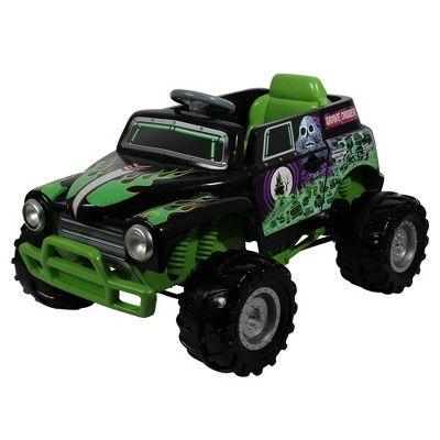 Monster Jam 12V Grave Digger Powered Ride-On - Black/Green ...