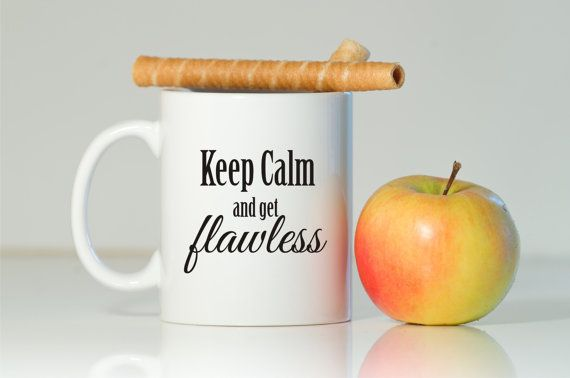 Keep Calm & Be Flawless by Tony and Gali Russoniello on Etsy