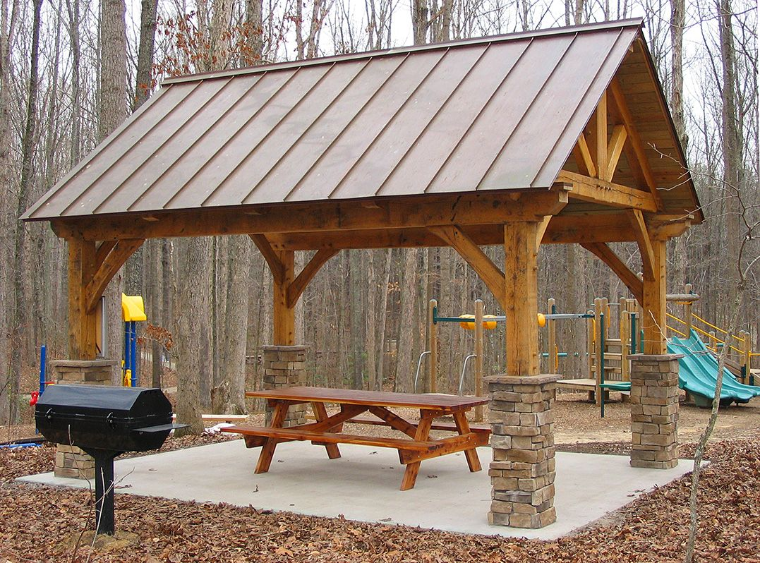 Log frame pavilion timber frame pavilion plans pergola for Pavilion style home designs