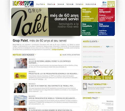 Site web GRUP PALET