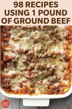 101 Recipes Using 1 Pound of Ground Beef