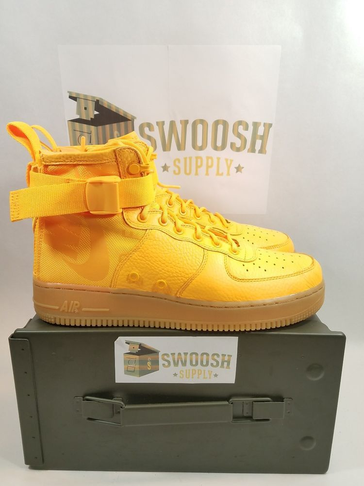 4ba7a89ae4 Nike SF AF1 Special Air Force Mid OBJ Odell Beckham Jr Orange 917753 801 Sz  9-14 #Airforce #BasketballShoes