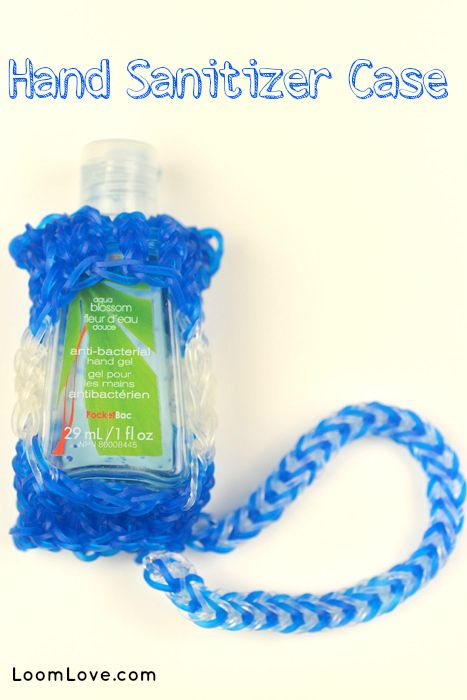 How To Make A Rainbow Loom Hand Sanitizer Case With Images