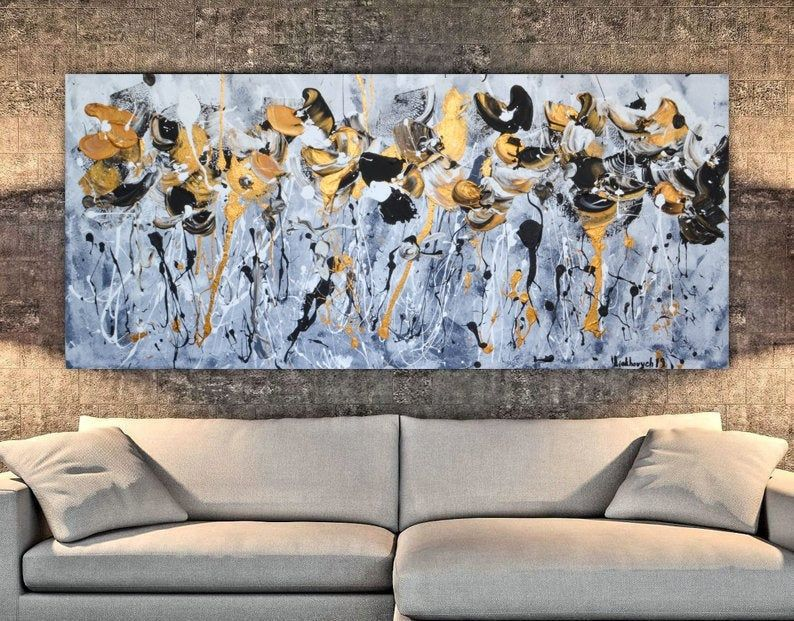 Huge Wall Art Xl Abstract Painting Diamond Painting Master Etsy Huge Wall Art Hand Painted Artwork Wall Art Painting