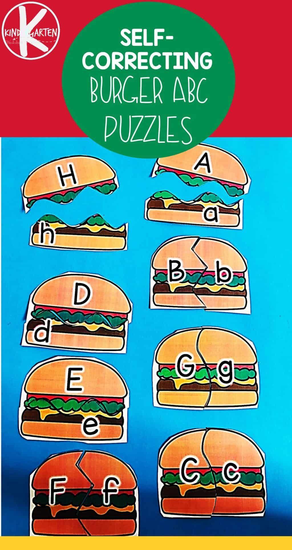 Free Hamburger Alphabet Puzzle