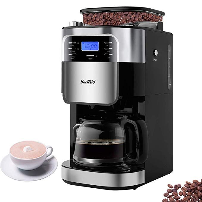 Barsetto Grind and Brew Automatic Coffee Maker with ...