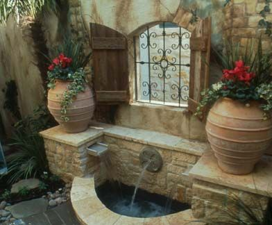 Houston concrete fountains, waterfall fountains, outdoor waterfalls, and fountains for sale.