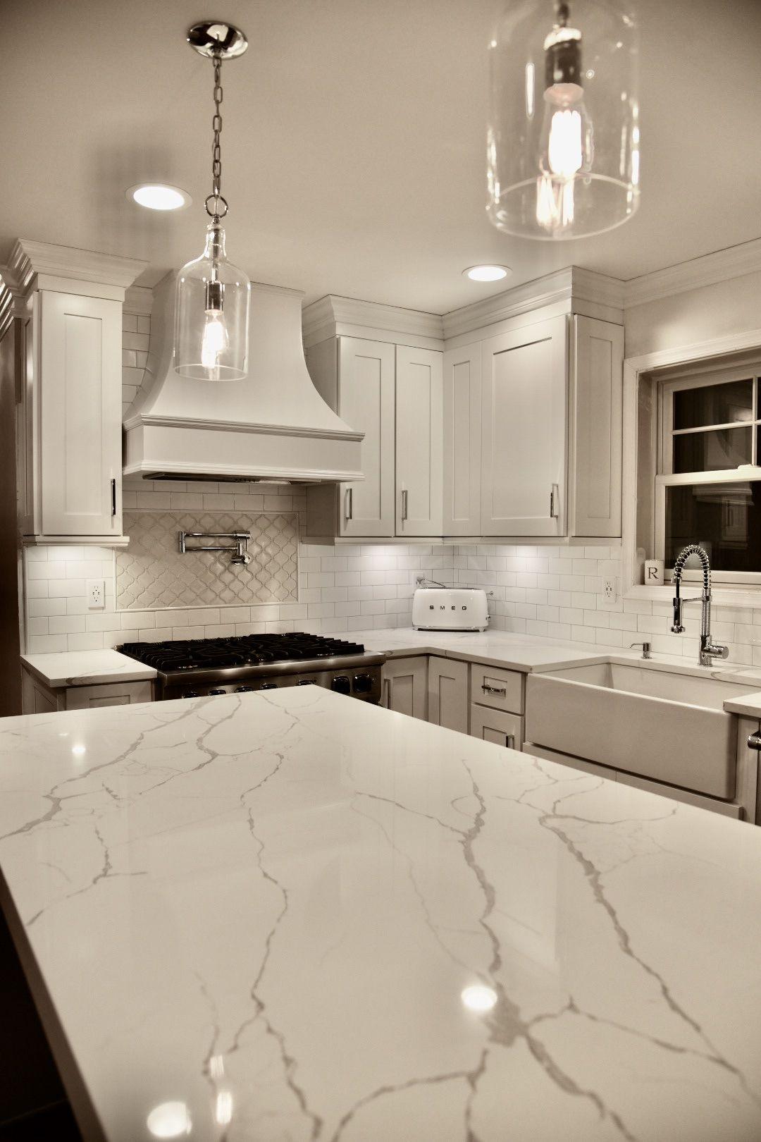 Calacatta Laza Quartz Quartz Kitchen Countertops White Home
