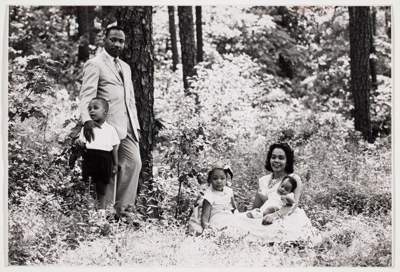 Martin Luther King and family in the park by by MarvinKonerArchive