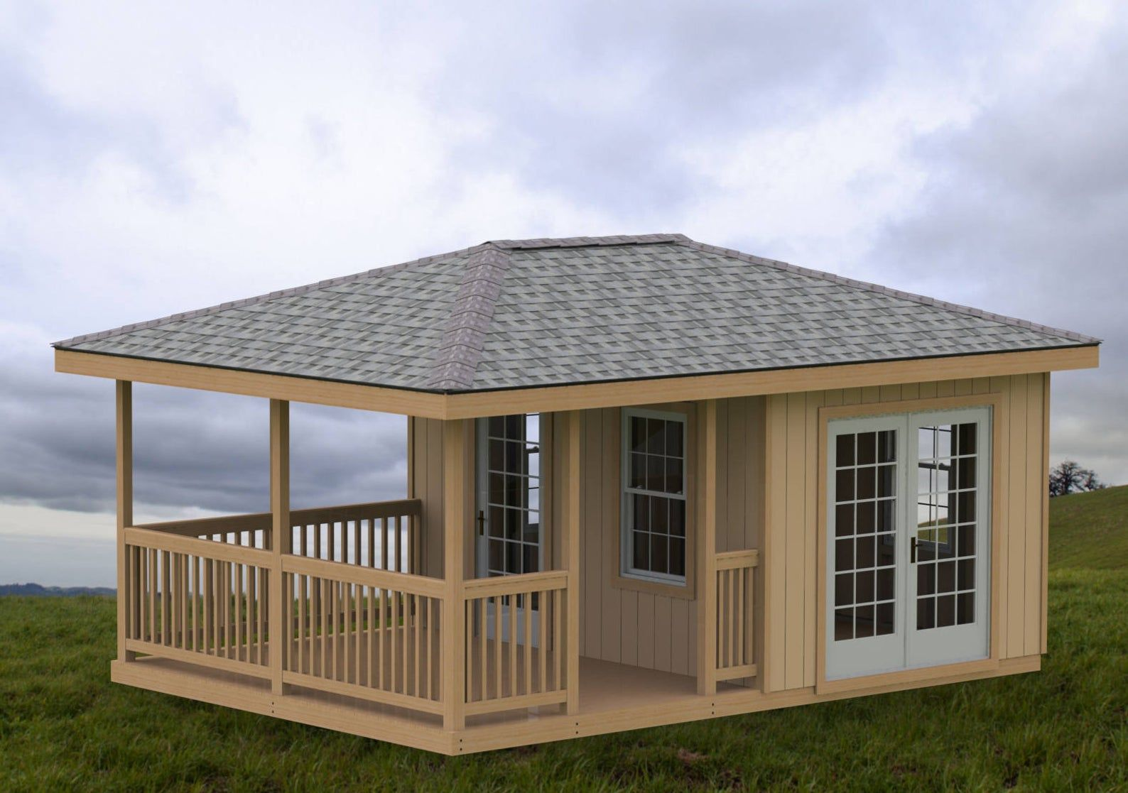 Garden Gazebo Man Cave She Shed Building Plans I Hip Roof 14 X 20 With Images Building A Shed Enclosed Gazebo Wood Shed Plans