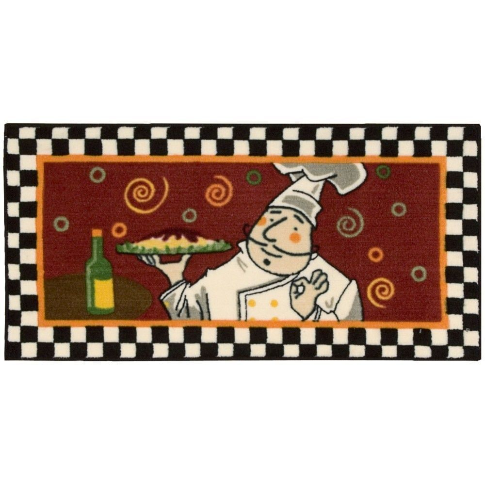 Nourison Accent Decor Brown Chef Rug | Products | Kitchen ...
