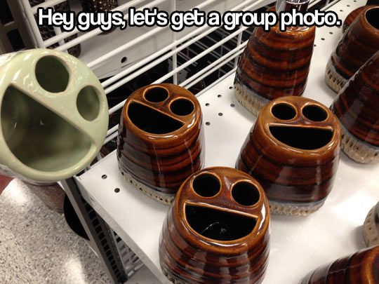 Ready for a group photo… (at least I'm not the only person who's thought about this...)