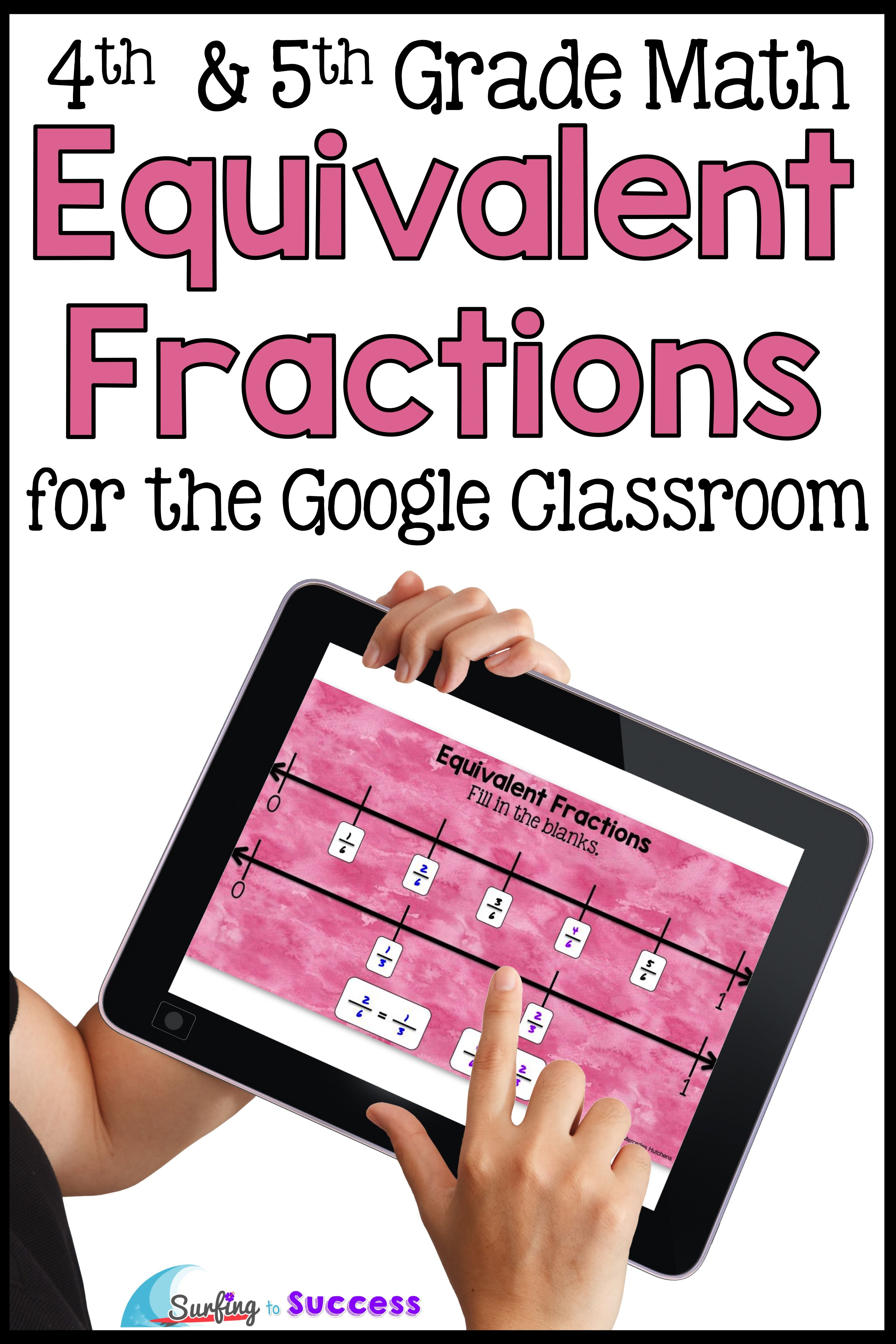 Equivalent Fractions Interactive Math For The Digital