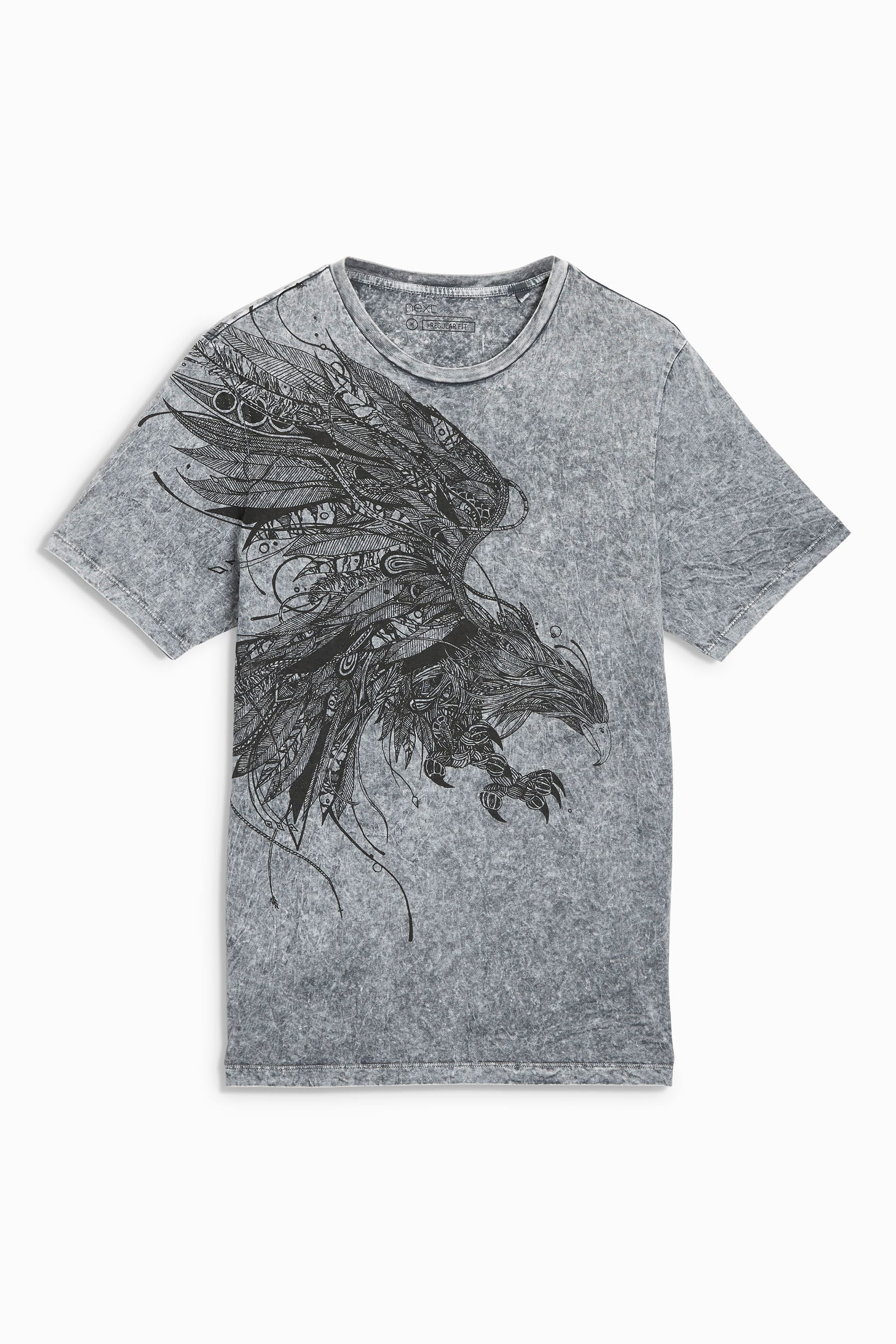 cf59aecf22 Buy Eagle Acid Wash T-Shirt from the Next UK online shop