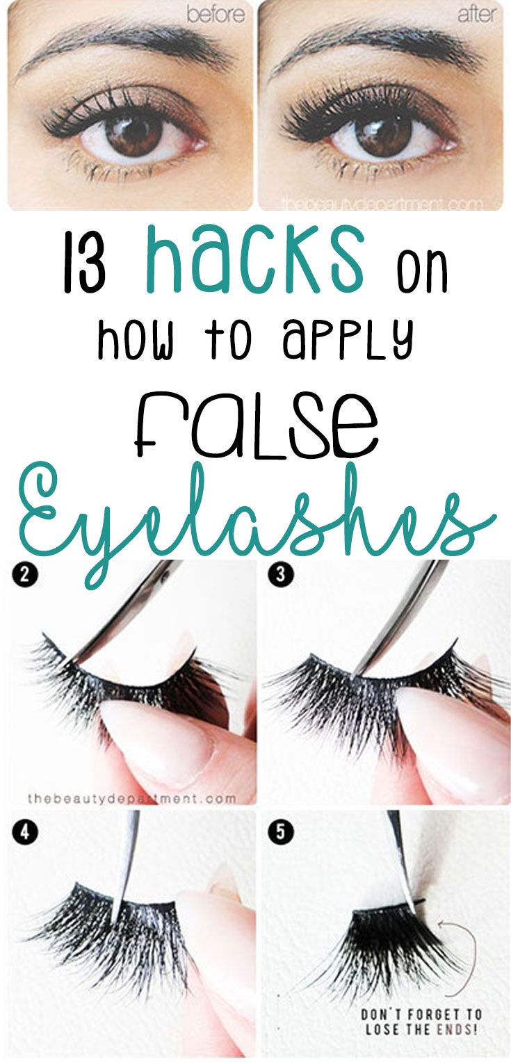 How To Apply Fake Eyelashes False Lashes Hacks All Things Makeup