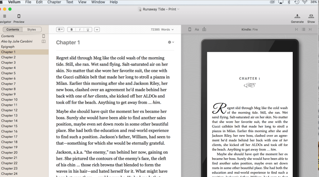 My Review of Vellum Book Formatting Software Self