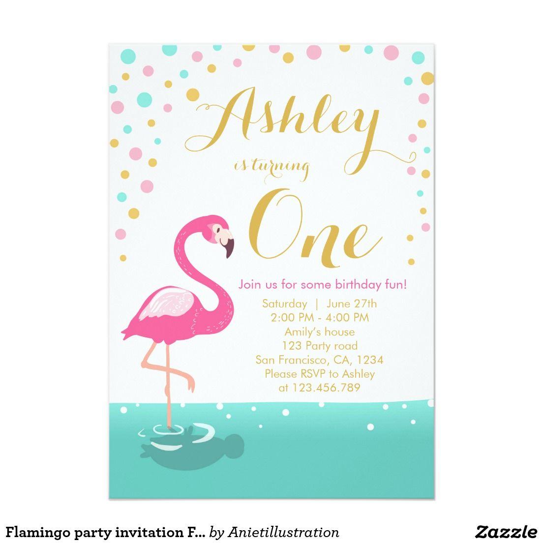 flamingo party invitation flamingo birthday invite in 2018