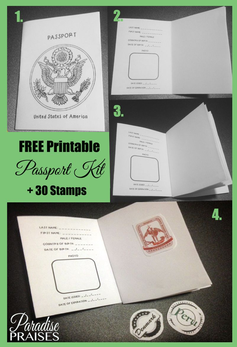 Free Printable Passport Stamp Activity Passports For Kids