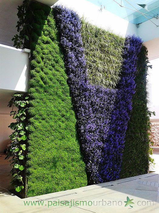 Jardin vertical jardines verticales muro verde muros for Que planta para muro exterior vegetal