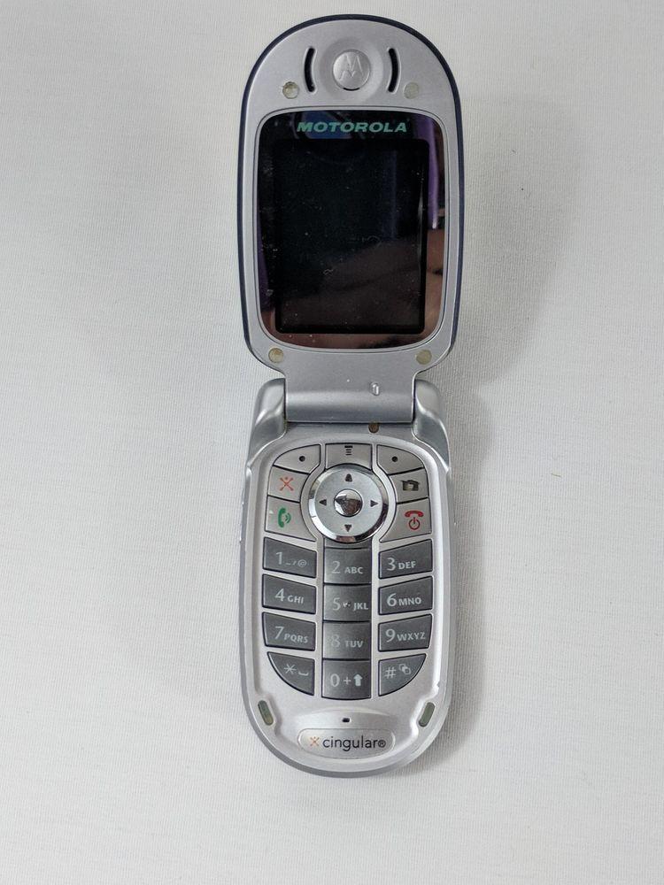 Motorola Cingulare Vintage Flip Phone Silver   Tortas para niños, Diseños  de uñas, Disenos de unas