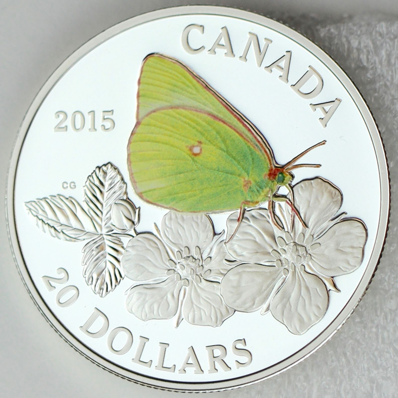 Canada 2013 $20 Tiger Swallowtail Butterflies of Canada Pure Silver Color Proof
