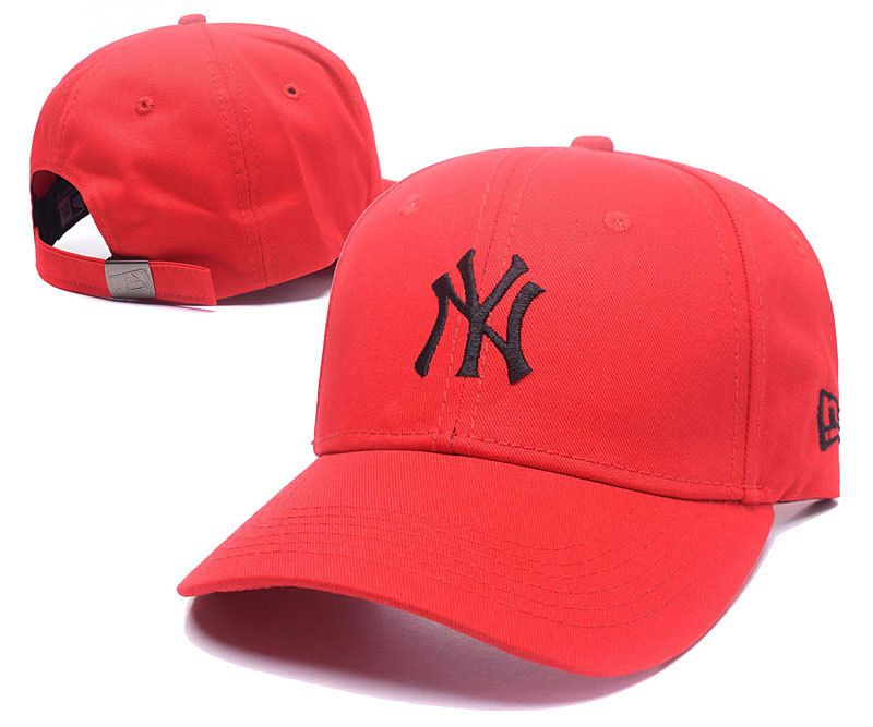 Men s   Women s New York Yankees New Era Basic Team Logo Embroidery  Adjustable Baseball Hat - Red   Black 6aa667a0eb4