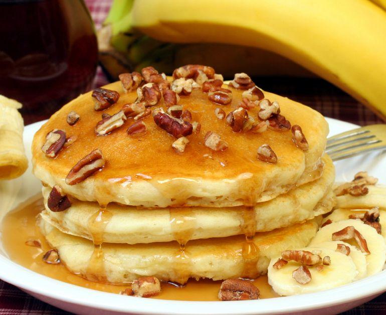 Banana Sour Cream Pancakes Daisy Brand Sour Cream Cottage Cheese Recipe Breakfast Recipes Kids Recipes Breakfast Treats