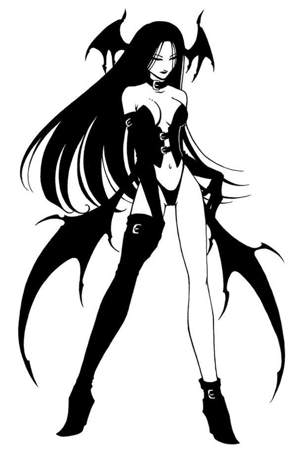 Черно белые картинки демониц
