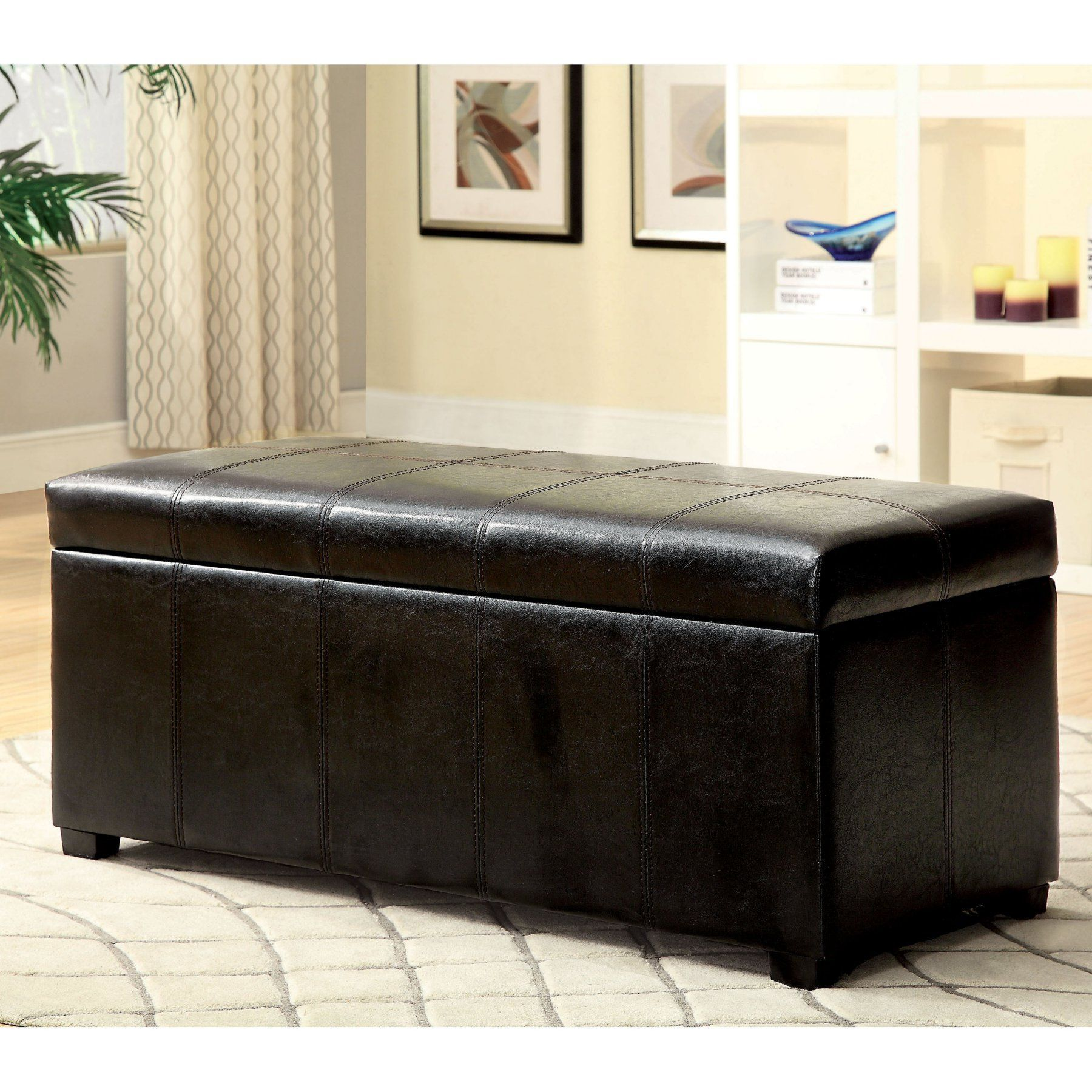 Phenomenal Furniture Of America Guthrie Shoe Storage Ottoman Idf Caraccident5 Cool Chair Designs And Ideas Caraccident5Info