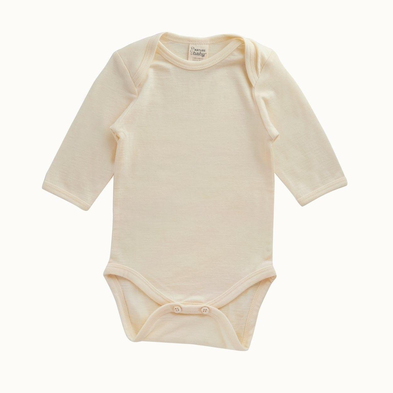 Organic Merino Long Sleeve Bodysuit | Nature Baby