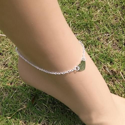 rose for gold anklet her anklets with light butterfly plated charm heart