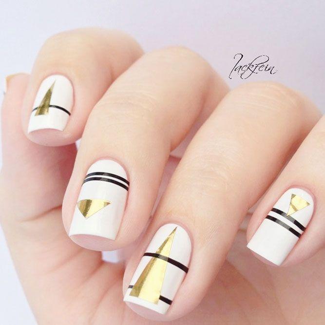 Amato 21 Simple Nail Designs for Short Nails To Do at Home | Short nails  CQ48