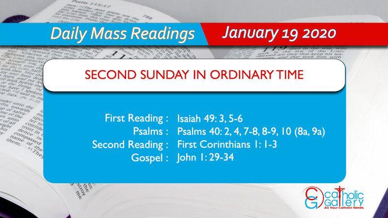 Daily mass readings 19 january 2020 sunday catholic