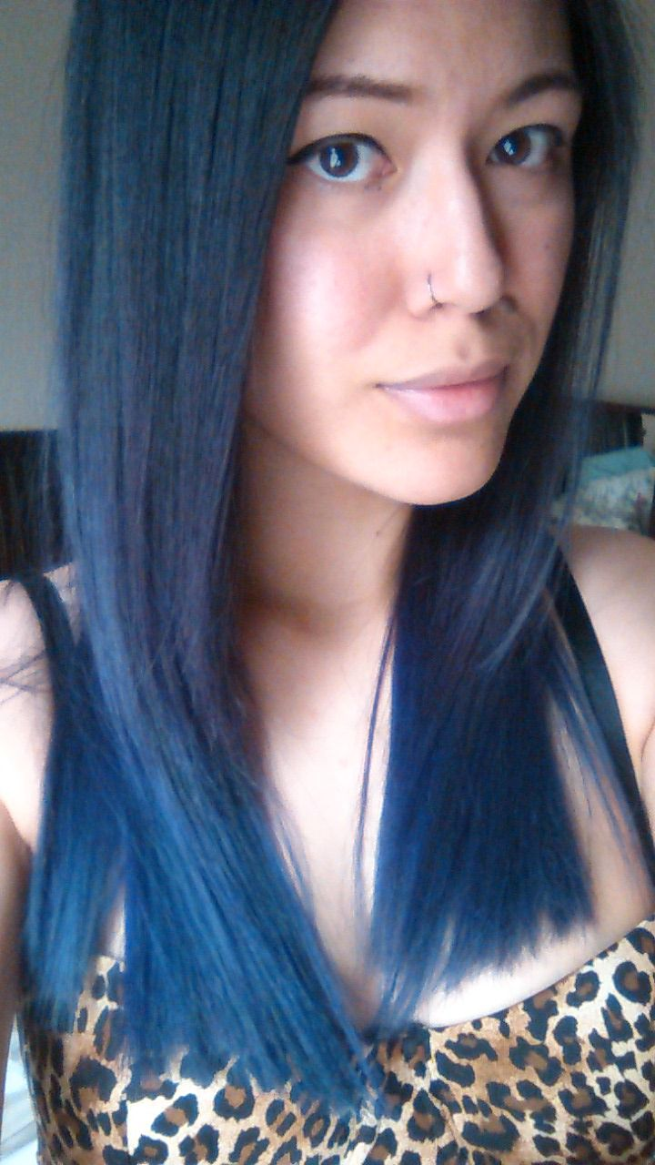 Dark Blue Ombre Black Hair Ombr Hair Pinterest Blue Ombre And