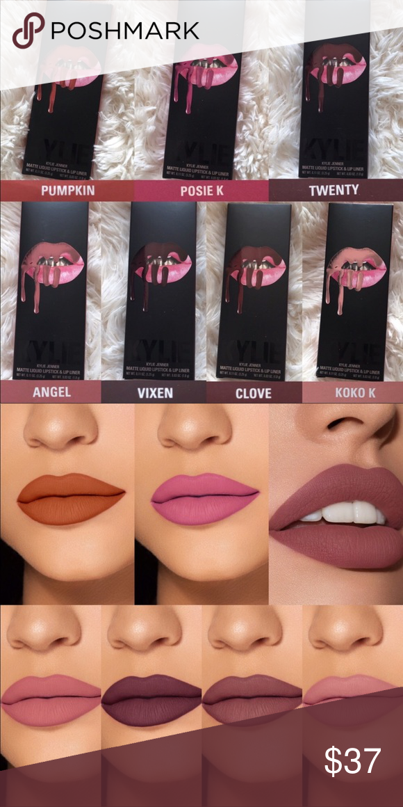 Kylie Cosmetics Matte Lip Kit Individual Shades Pumpkin Posie K