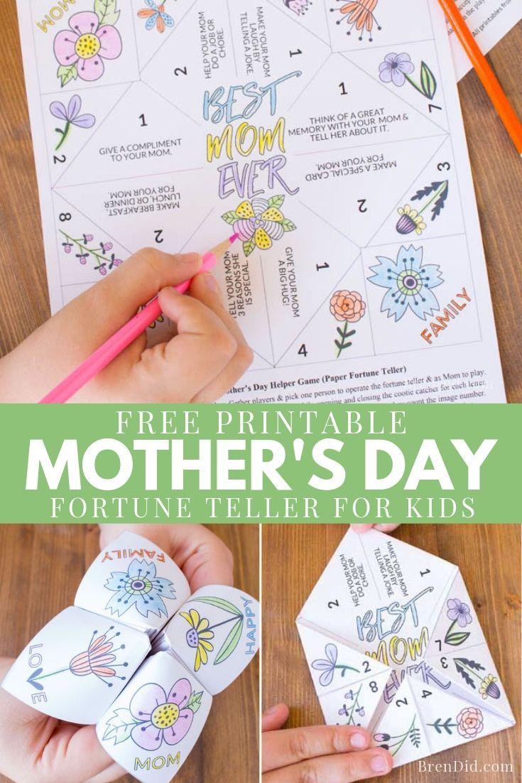 Mother's Day Fortune Teller for Kids