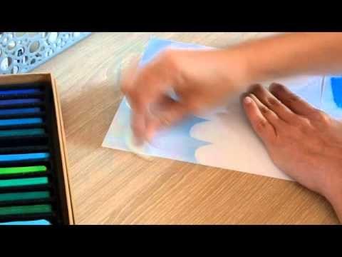 Faire Un Fond Nuageux Au Pastel Sec Youtube Pastel Sec
