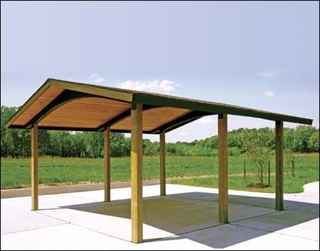 20 X 20 Wood Gable Savannah Pavilion Shown W Asphalt Shingles Pavilion Design Carport Designs Pavillion Design