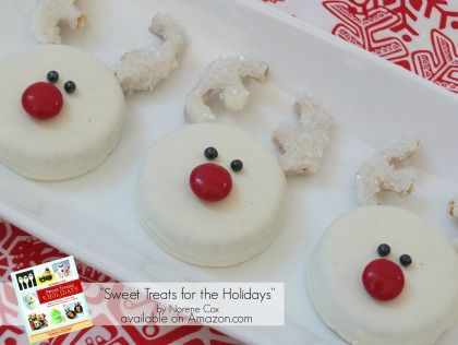 Snow White Reindeer Oreo Cookies Easy Christmas Treats Kid Friendly