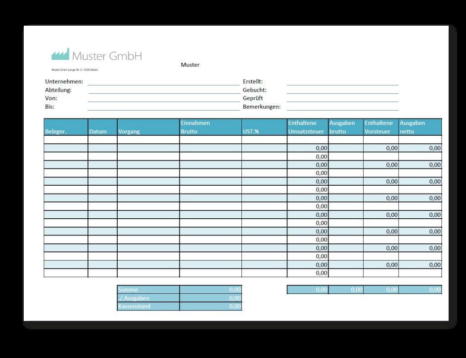 Tolle Kassenbuchvorlage Als Excel Pdf Und Word Beispiel Zum Download Jetzt Bares Geld Christmas Cocktails Recipes Microsoft Excel Money Management