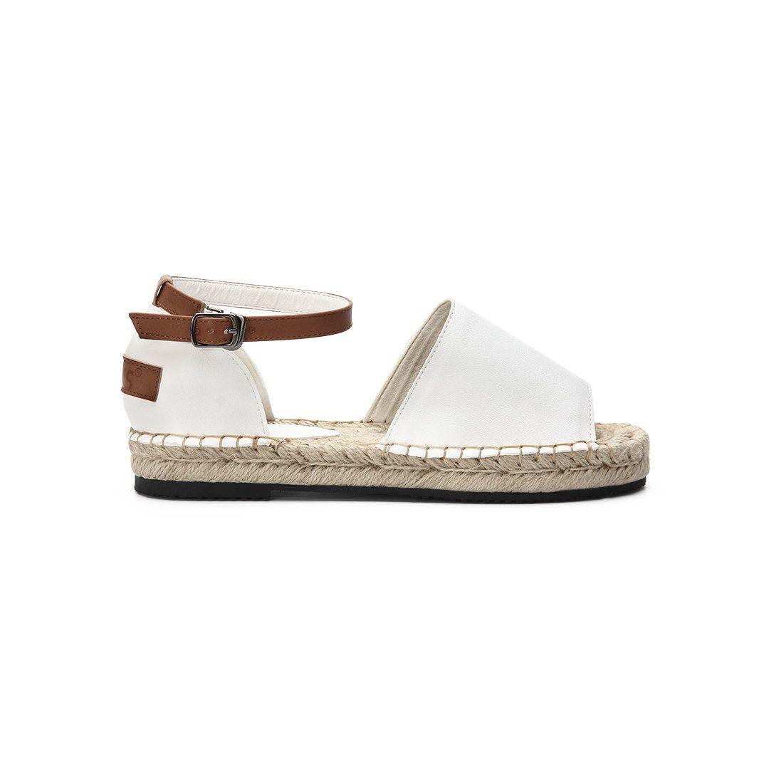 white open toe espadrilles