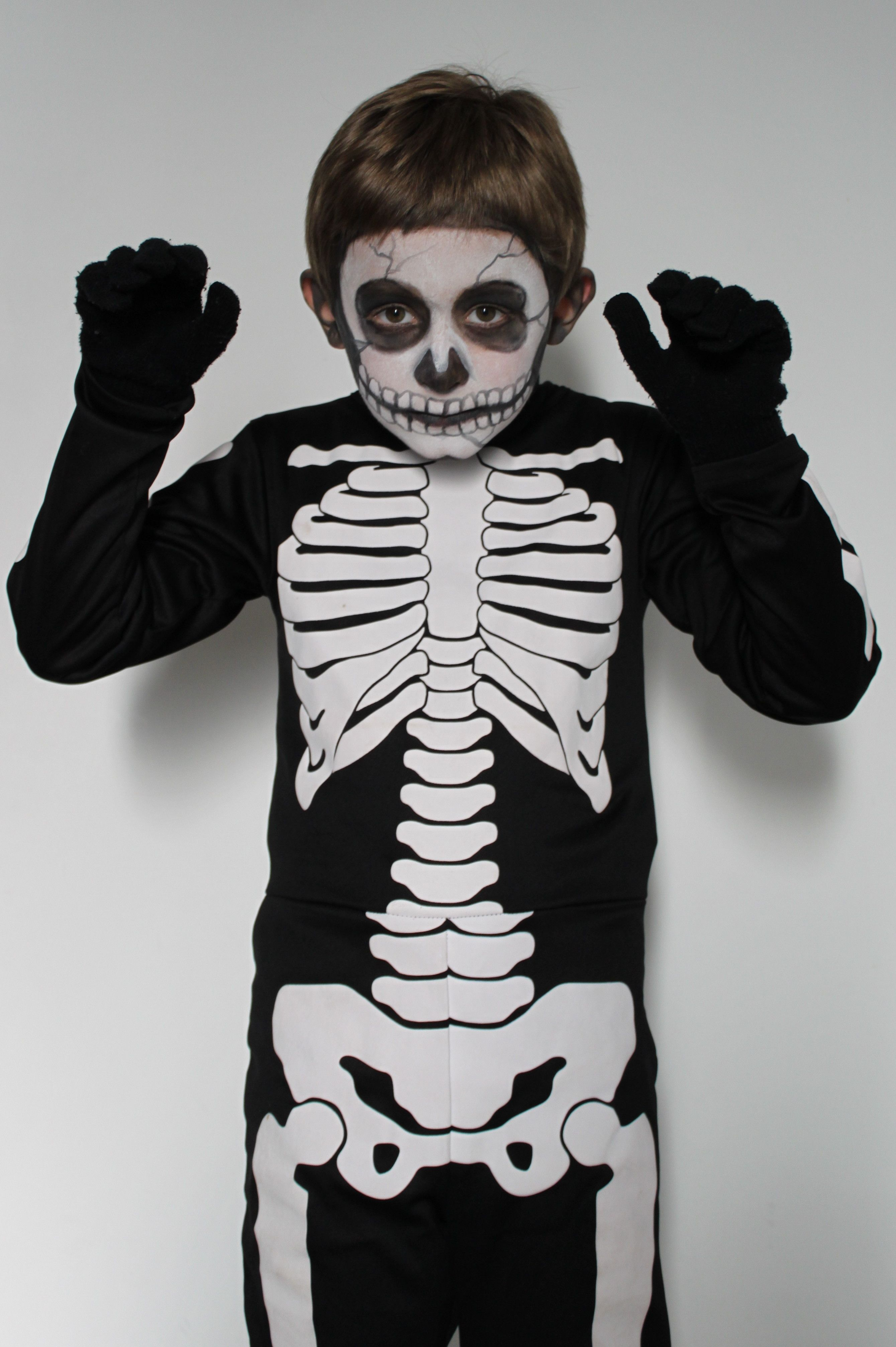 My Sonu0026#39;s Skeleton Make-up | Make Up | Pinterest | Skeletons Costumes And Halloween Ideas
