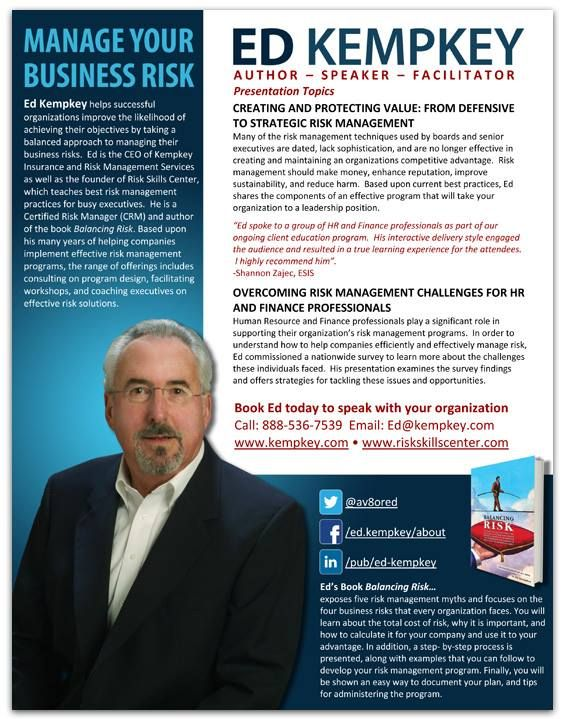 Cover Of Marketing Brochure For Professional Speaker Theodore