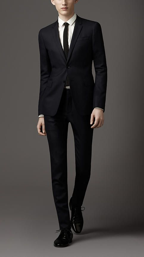 black suit with burberry tie