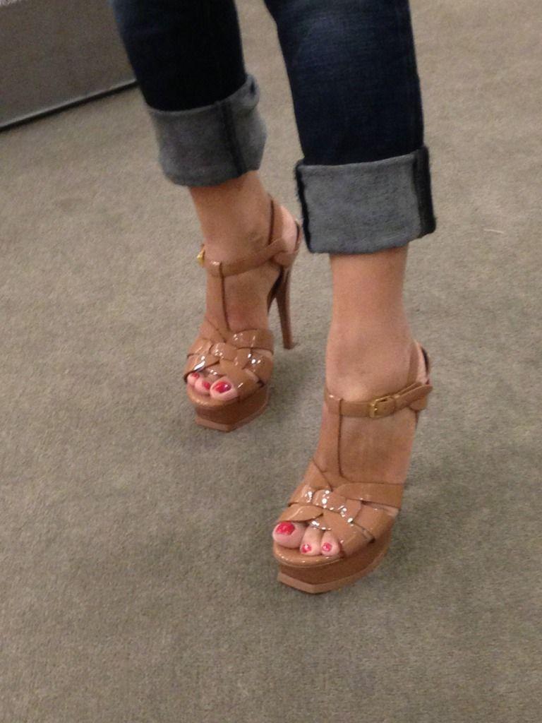 5c14ff10096 YSL tribute nude platform sandals Ysl Sandals