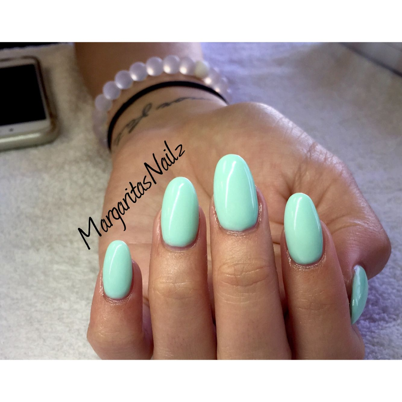 Mint Green Oval Shaped Nails Oval Acrylic Nails Oval Shaped Nails Nail Shapes